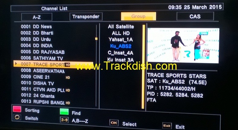Satellite channels List - Rovecul