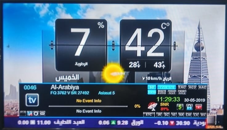 Al Arabiya Arabic News Channel FTA from Asiasat 5 at 100 5°E