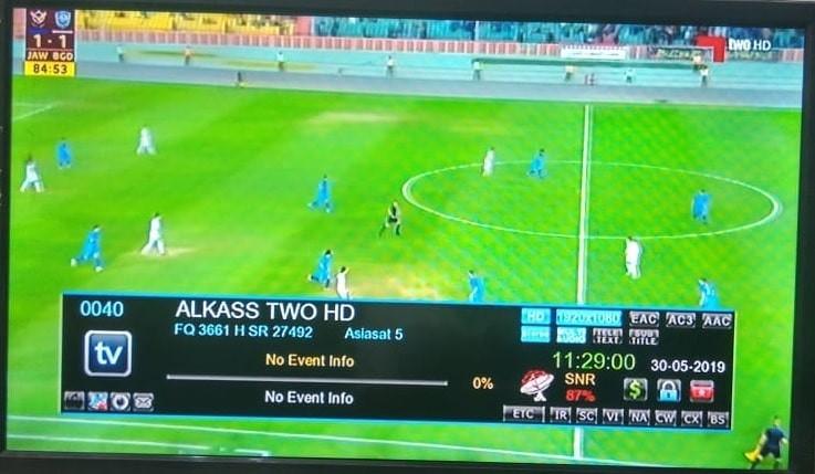 Al Kass Two HD FTA From Various Satellites | Trackdish com